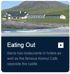 Eating out  on the Isle of Barra