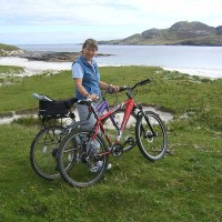 Cycling on Vatersay